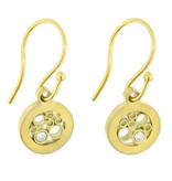 Belle Brooke Sol Petite Circle gold earrings with diamonds