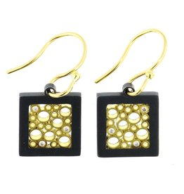 Belle Brooke Cielo Square Earrings