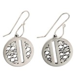 Belle Brooke Luz Collection Split Circle silver earrings with diamonds