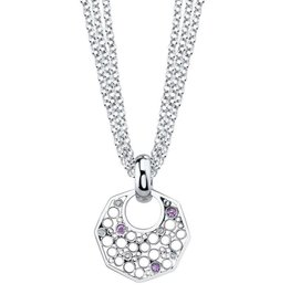 Belle Brooke Metropolis Octagon Triple Chain Necklace
