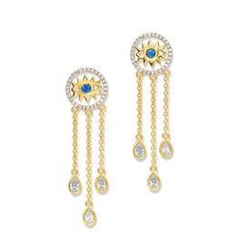 Buddha Mama Evil Eye Dainty Earrings