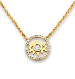 Buddha Mama Evil Eye Dainty Necklace