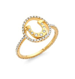 Buddha Mama Horseshoe Ring