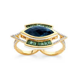 Buddha Mama Evil Eye Double Finger Ring