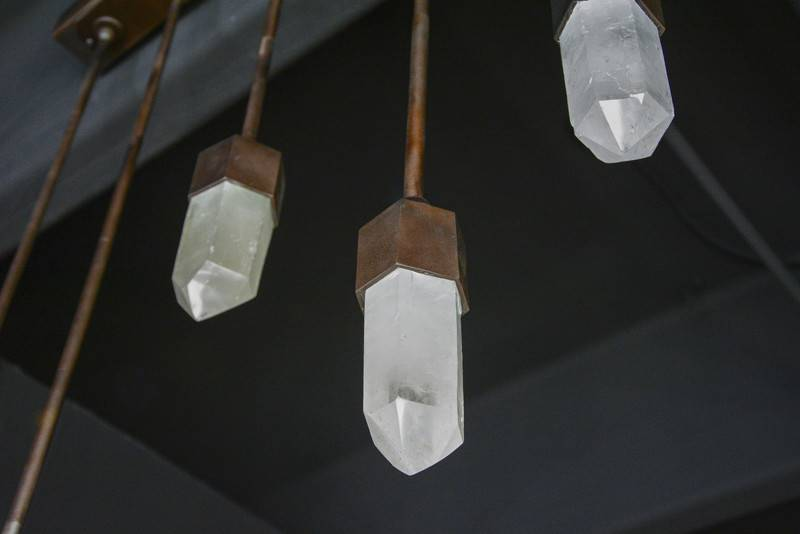 James Vilona Individual quartz crystal chandelier