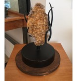 James Vilona Spinning quartz citrine sculpture
