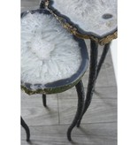 James Vilona Drusy Quartz Two Piece Nesting Table