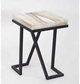 James Vilona Onyx Side Table
