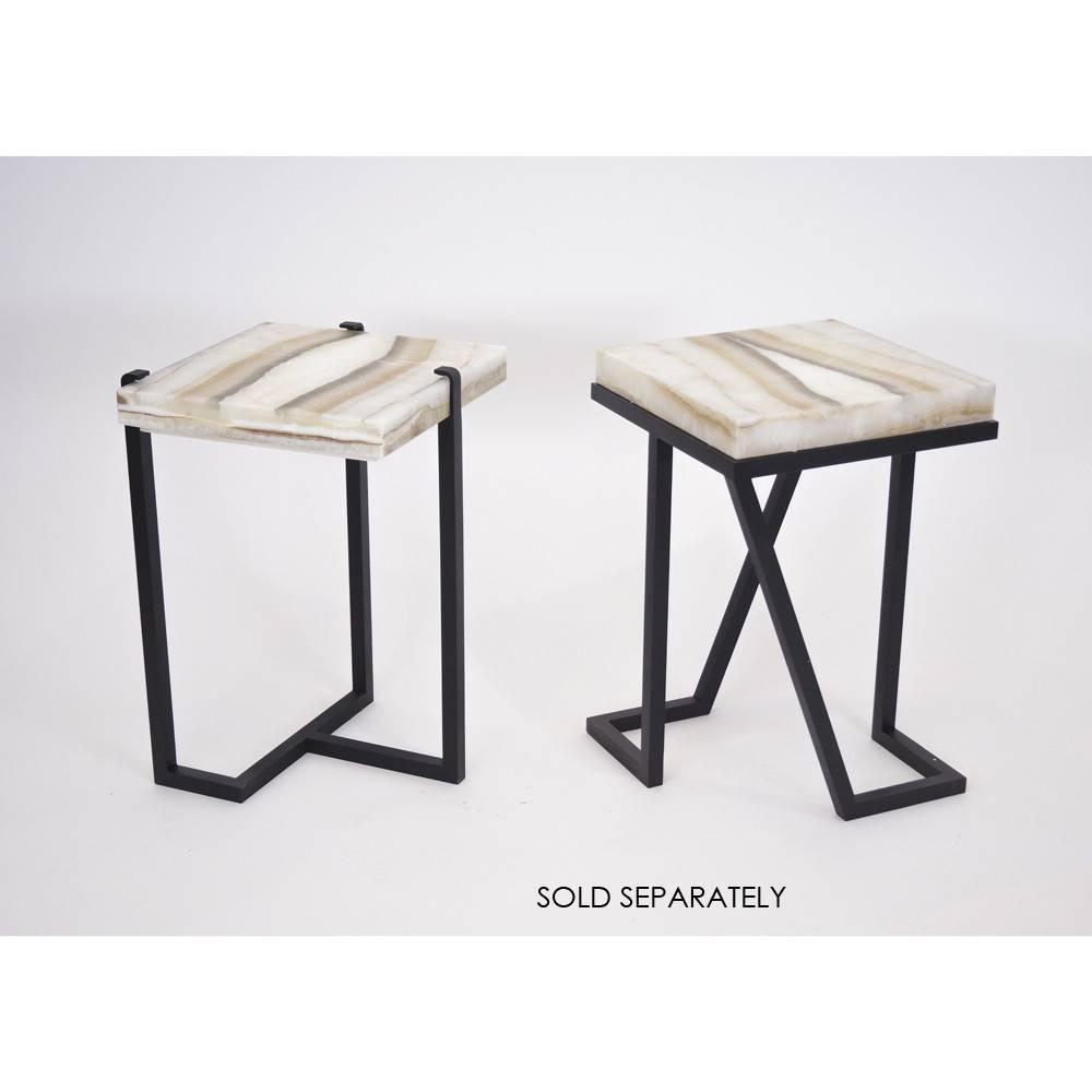 James Vilona Onyx Side Table