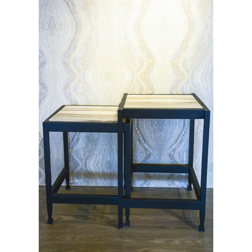 James Vilona Onyx Two Piece Nesting Table