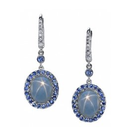 Omi Prive Monaco Collection Star Sapphire Drop Earrings