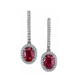 Omi Prive Dore Collection Ruby Drop Earrings