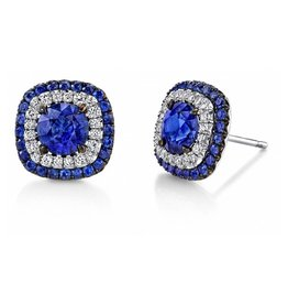 Omi Prive Duet Collection Sapphire Stud Earrings