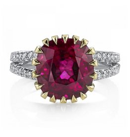 Omi Prive Monaco Collection Rubellite Ring
