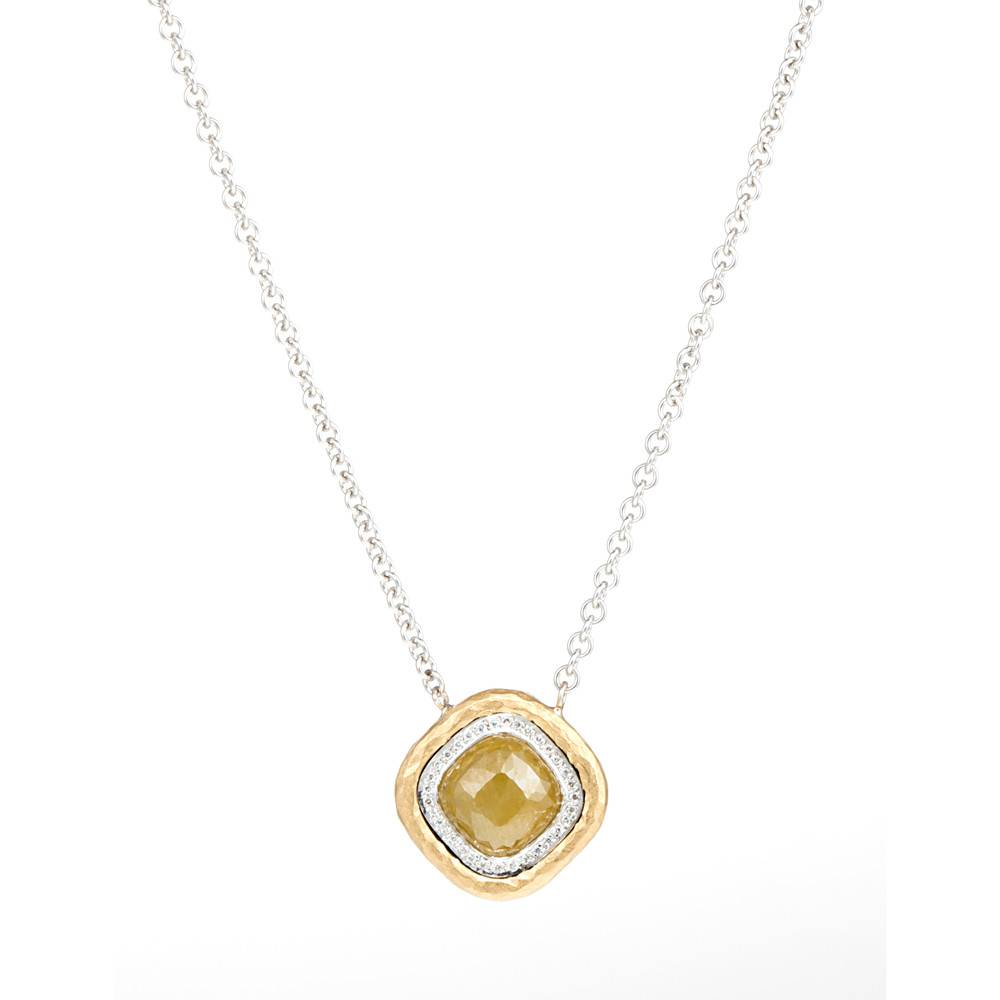 Pamela Froman Crushed Gold Frame Necklace