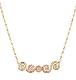 Pamela Froman Ombre Scroll Crush Bar Necklace