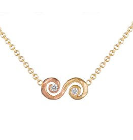 Pamela Froman Ombre Scroll Crush Necklace