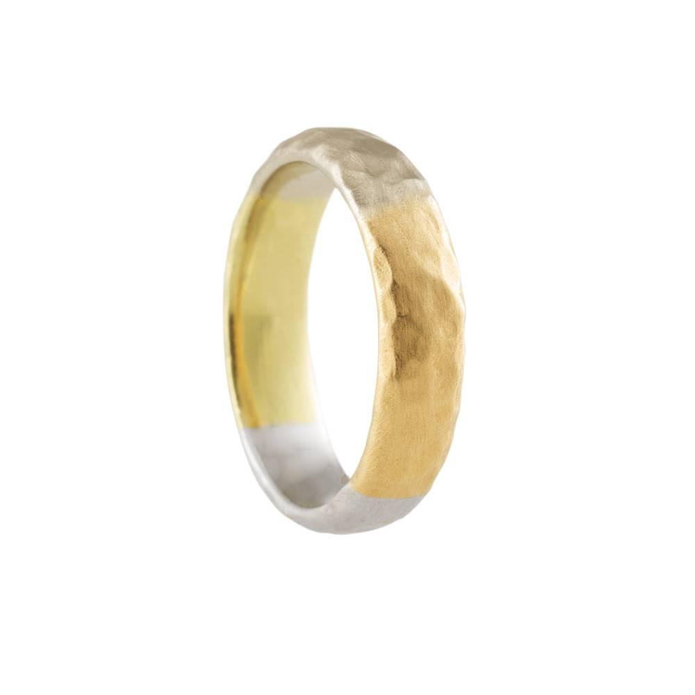 Pamela Froman Crushed Gold Quartered Ring