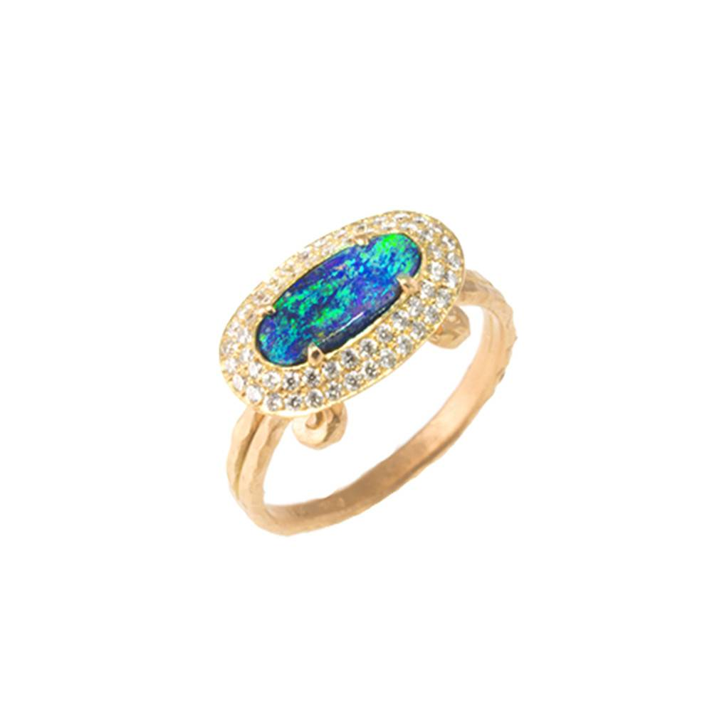 Pamela Froman Crushed Gold Elizabeth Ring