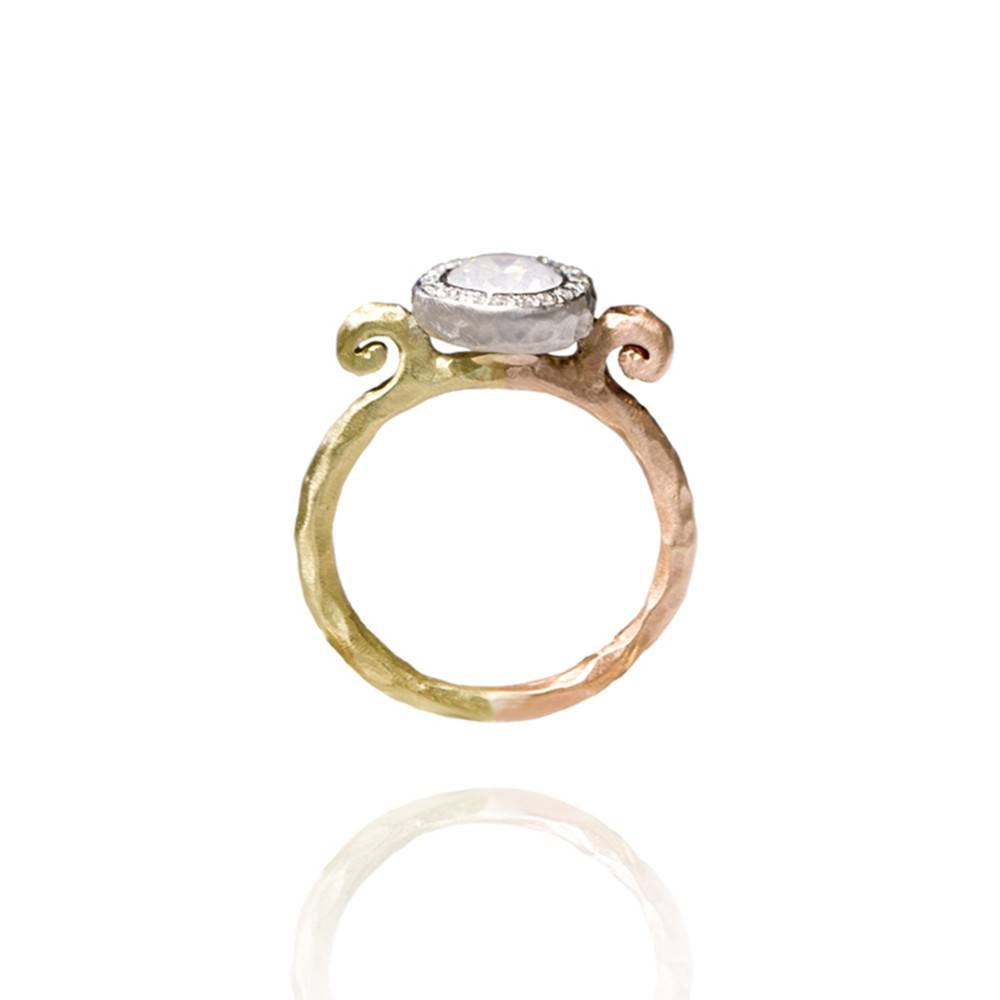 Pamela Froman Crushed Gold Milky Way Melange Ring