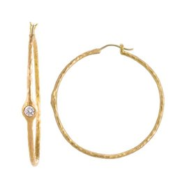 Pamela Froman Headlight Hoop Earrings