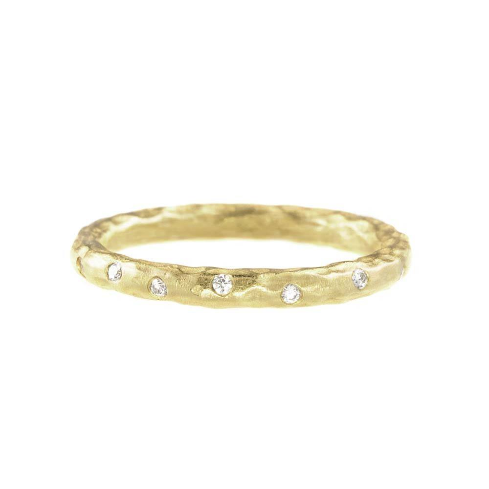 Pamela Froman Hammered Gold Get A Crush Stack Ring