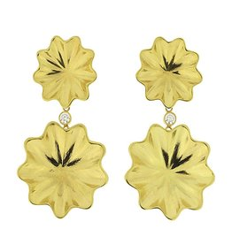 Patrick Mohs Golden Waves Reflection Earrings