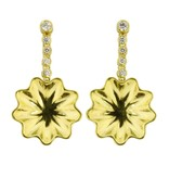 Patrick Mohs Golden Waves diamond line gold drop earrings