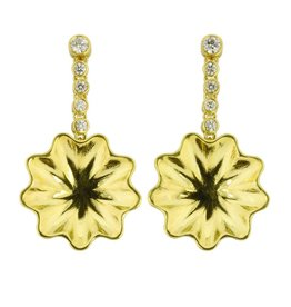Patrick Mohs Golden Waves Line Earrings