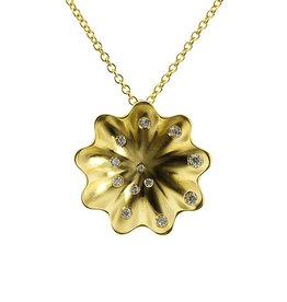 Patrick Mohs Golden Waves Whirlpool Necklace