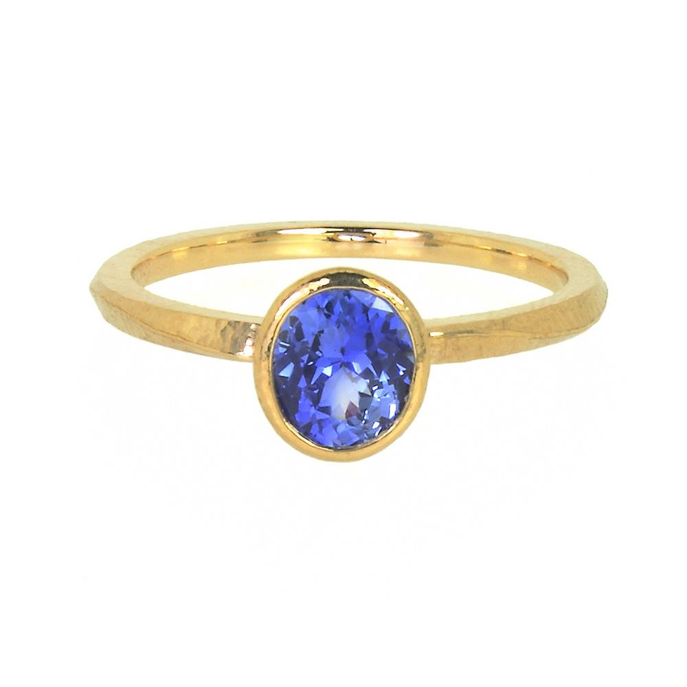 Patrick Mohs Wave Bezel Solitaire Ring