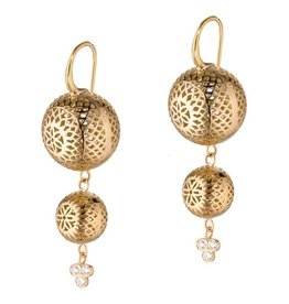 Ray Griffiths Double Drop Crownwork Earrings