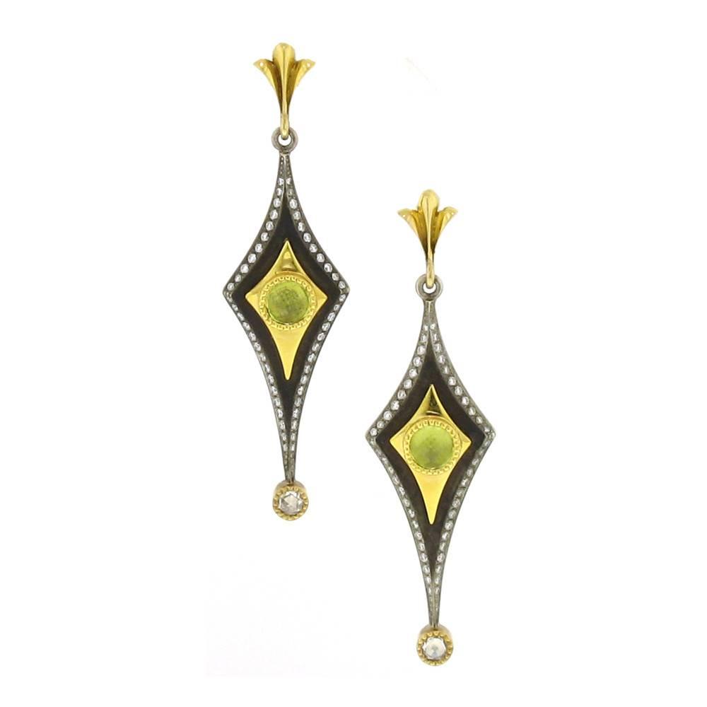 Victor Velyan Drop Earrings with peridot