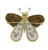 Tim Green Butterfly Pendant and Brooch