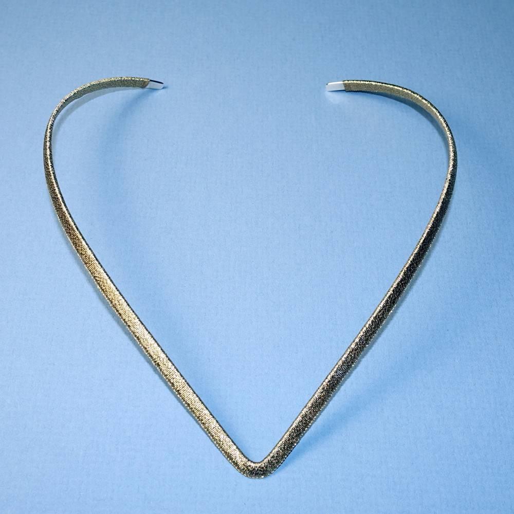Simon Alcantara Helios Luminis V Collar Necklace in gold cord