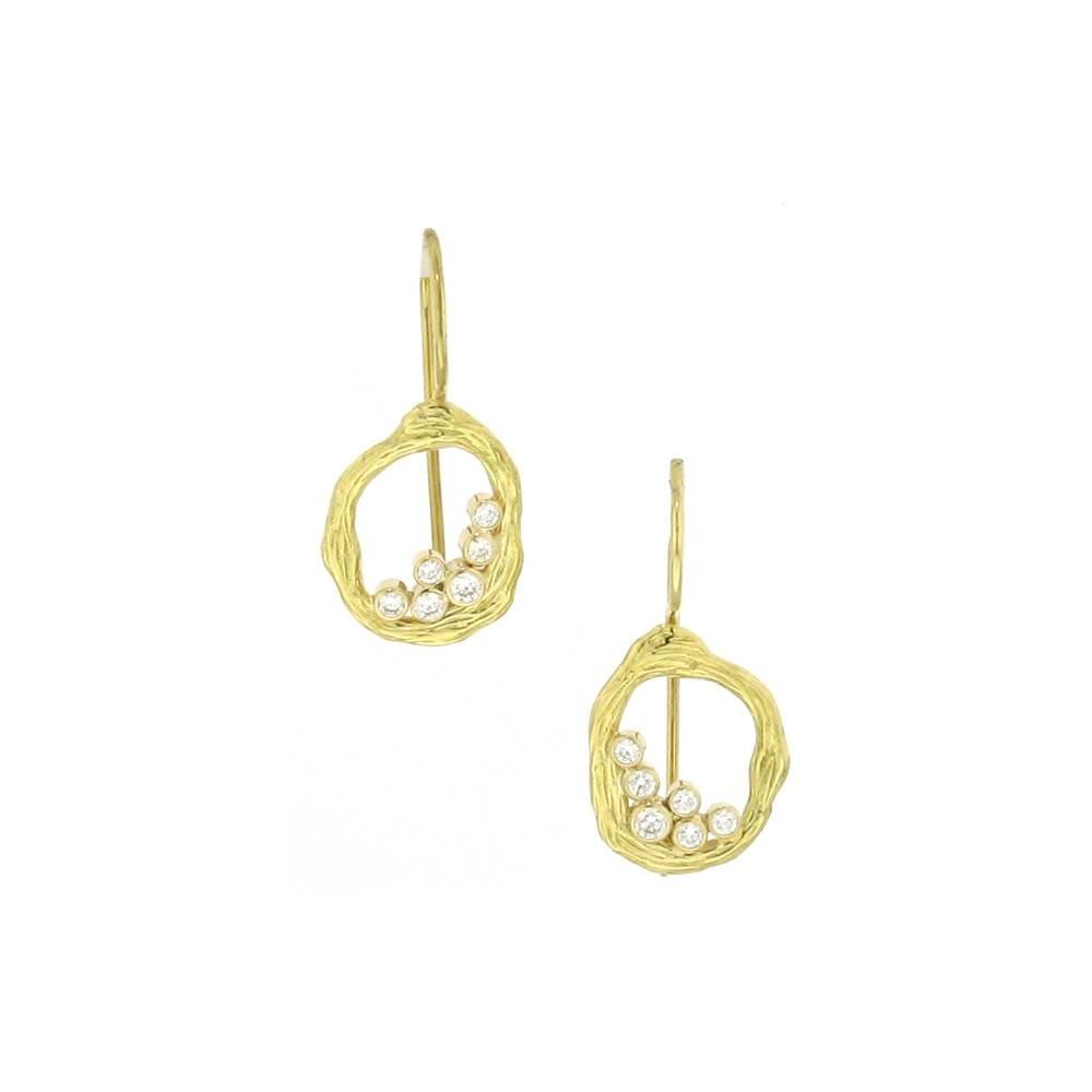 Sarah Graham Pebble Single Link Earrings