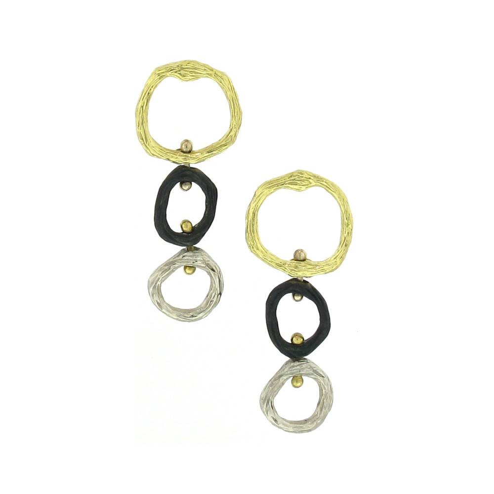 Sarah Graham Pebble Three Link Earrings