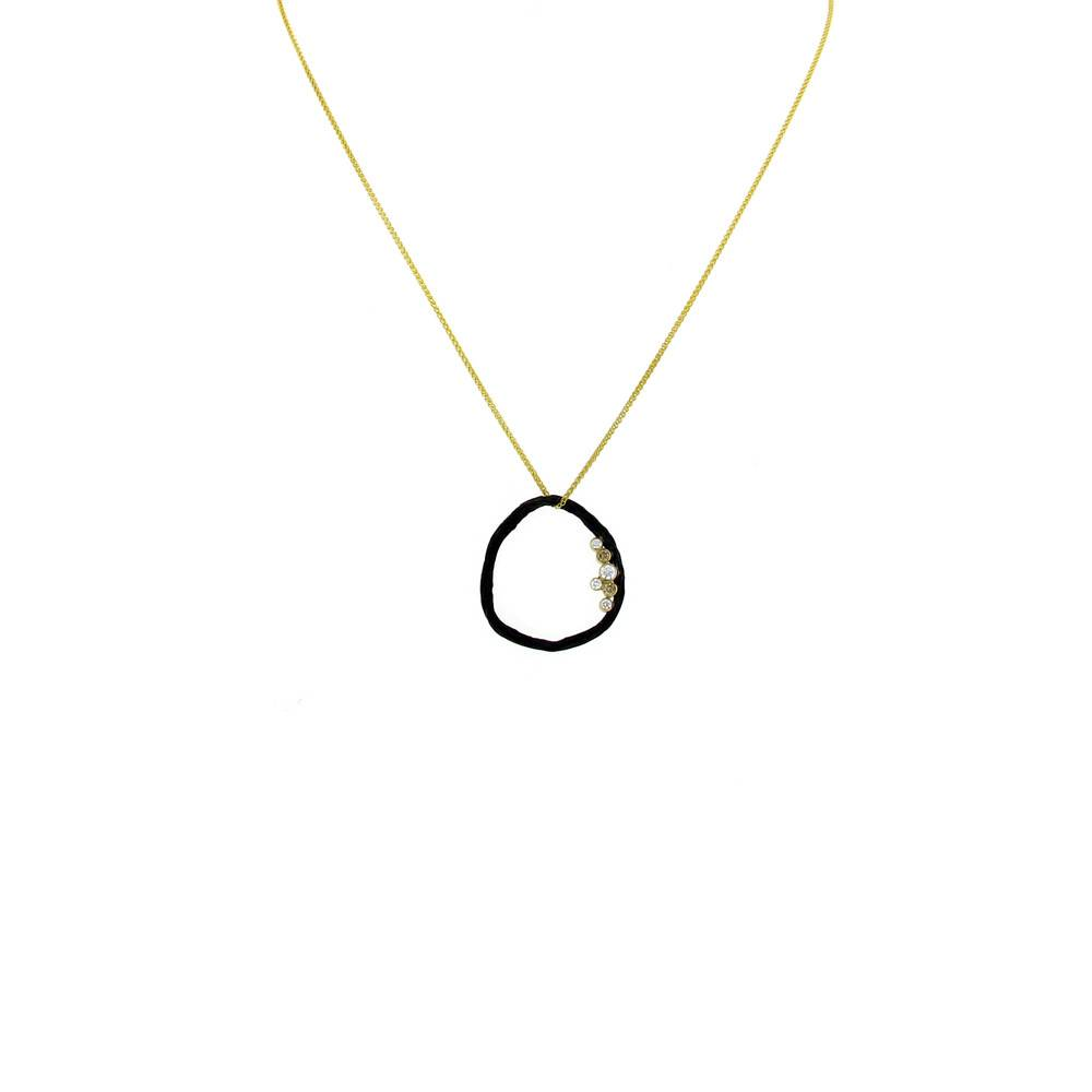 Sarah Graham Pebble Medium Circle Necklace