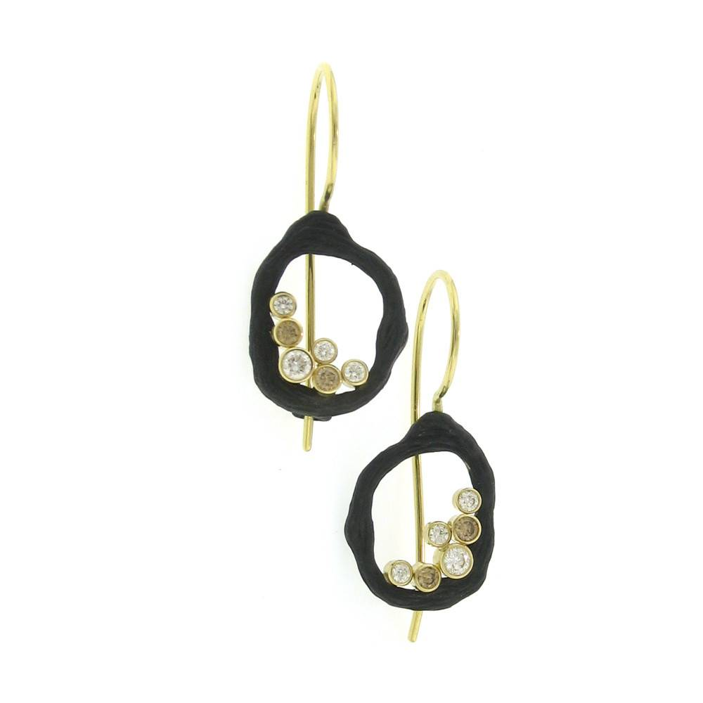 Sarah Graham Pebble Single Link Earrings