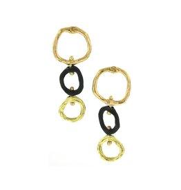 Sarah Graham Pebble Three Link Earrings