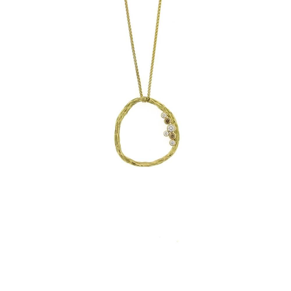 Sarah Graham Pebble Medium Circle Necklace