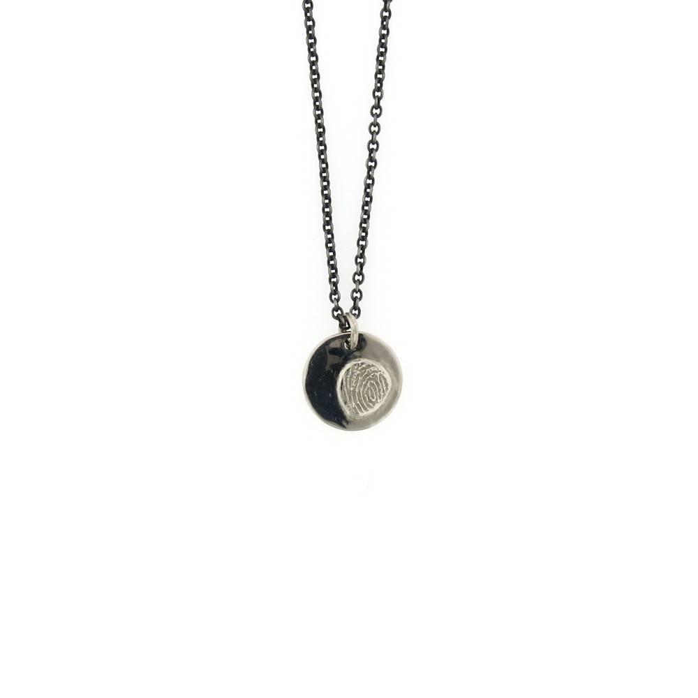 Sarah Graham Fingerprint Medium Circle Necklace
