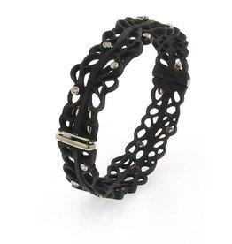 Sarah Graham Shadow Narrow Hinged Cuff Bracelet