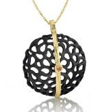Sarah Graham Shadow Large Dome Line Necklace