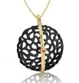 Sarah Graham Shadow Large Dome Line Necklace