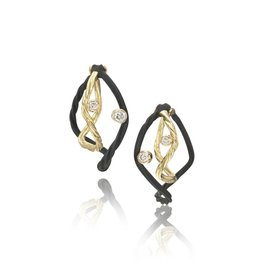 Sarah Graham Clover Small Double Hoop Earrings