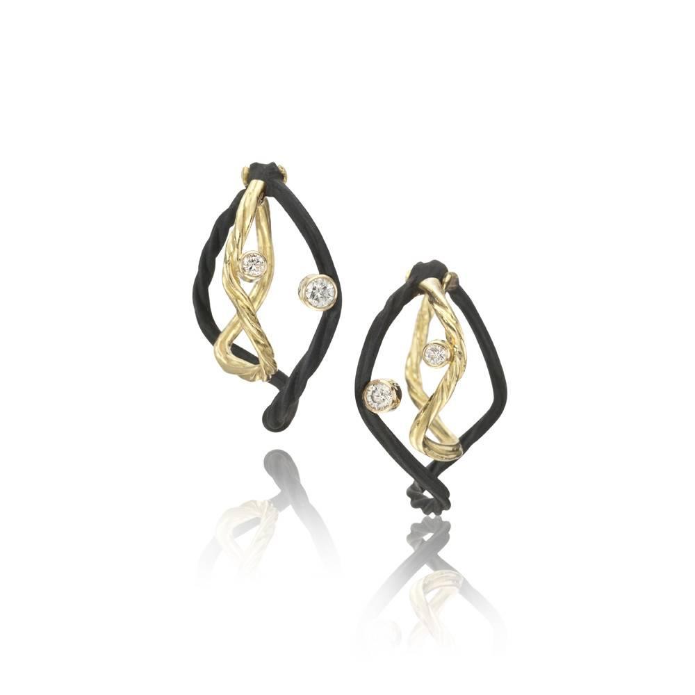 Sarah Graham Clover Small Double Hoop Earrings