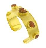 Victor Velyan Cuff Bracelet with fire opal