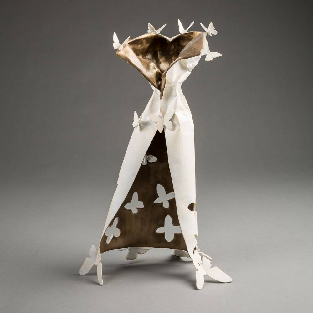 Kevin Box Carried Away Butterfly Dress in bronze