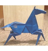 Kevin Box Origami Desktop Bronze Blue Pony